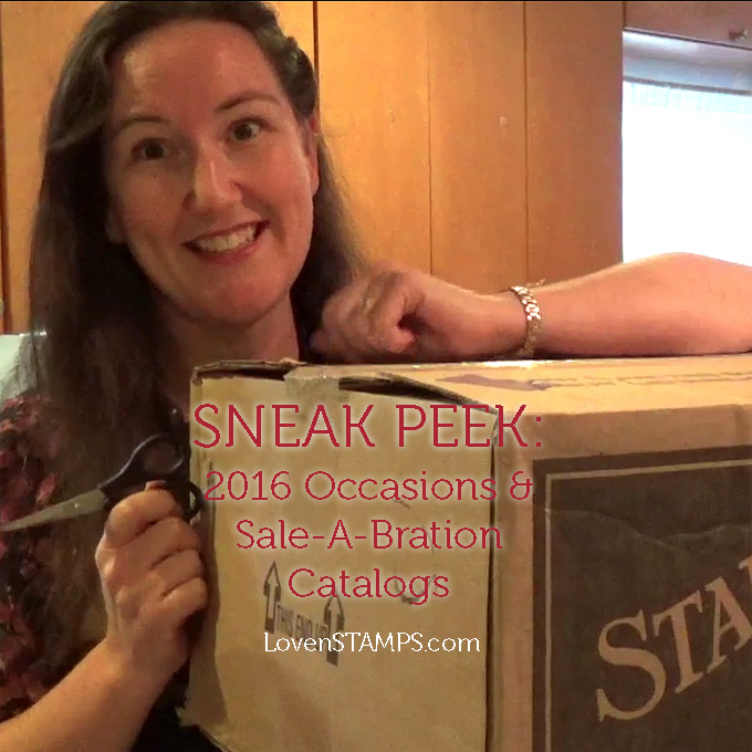 Stampin' Up! 2016 Occasions and Sale-A-Bration catalogs - revealed!  LovenStamps Unboxing Video