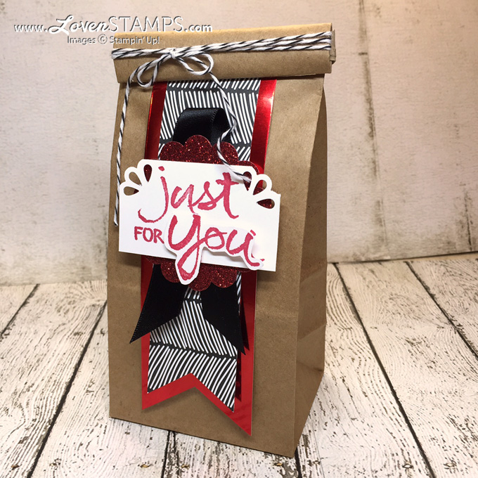 Petite Cafe Treat Bags - just for you, by LovenStamps for Stamps in the Mail Club