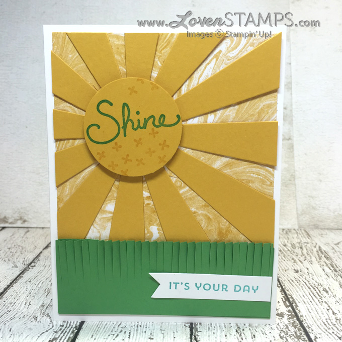 LovenStamps: Perfectly Artistic Designer Series Paper with the Sunburst Thinlits Die and Sunburst Sayings