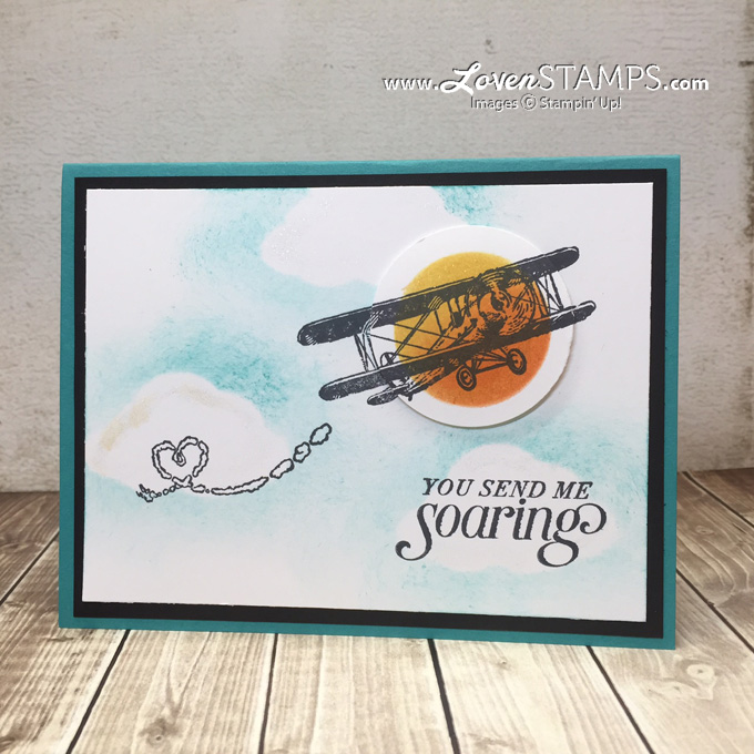 LovenStamps: Sponged Mask Technique with Sky is the Limit - Sale-A-Bration free stamps only until Feb 15