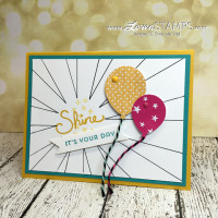Sunburst Outline: Using Die Cut Masks