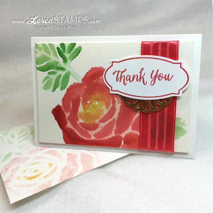 LovenStamps: Use your Rose Garden Thinlits Dies as a template for watercoloring with Aqua Painters - learn how