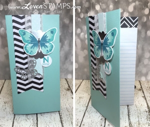 LovenStamps: Make Your Own Chevron Notebook idea - Watercolor Wings with the Bold Butterfly and Butterflies Thinlits Dies