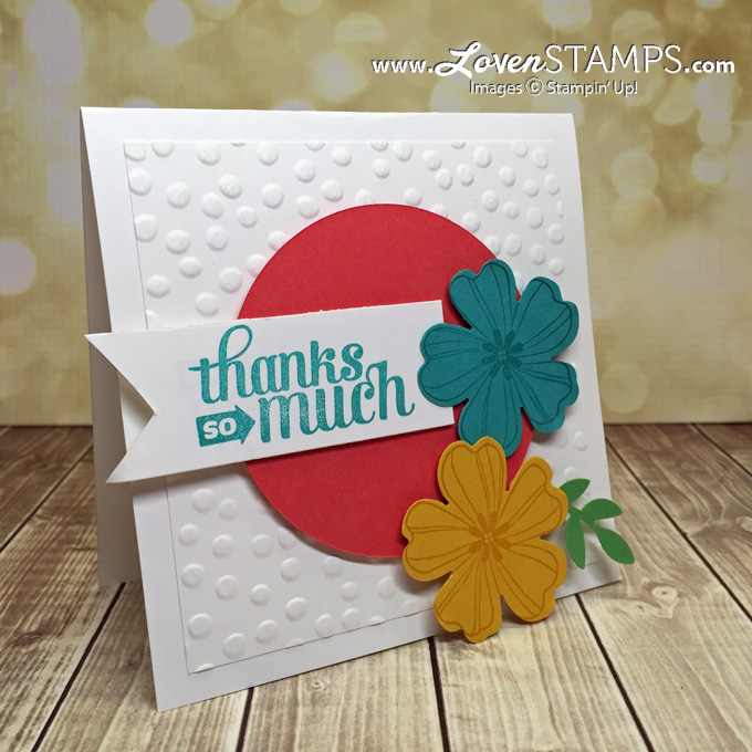 LovenStamps: swaps for Stampin' Up! OnStage SLC, Flower Shop and the Pansy Punch