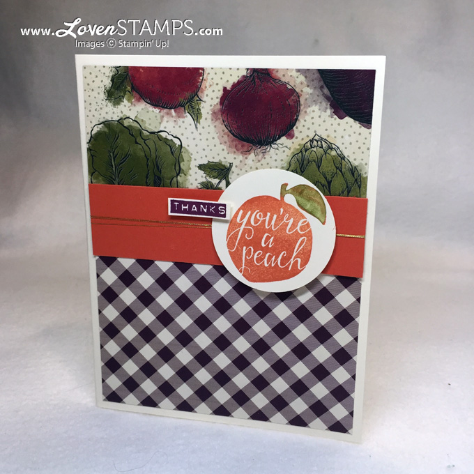 LovenStamps: Farmers Market Designer Paper with the Silhouettes and Script hostess stamp set