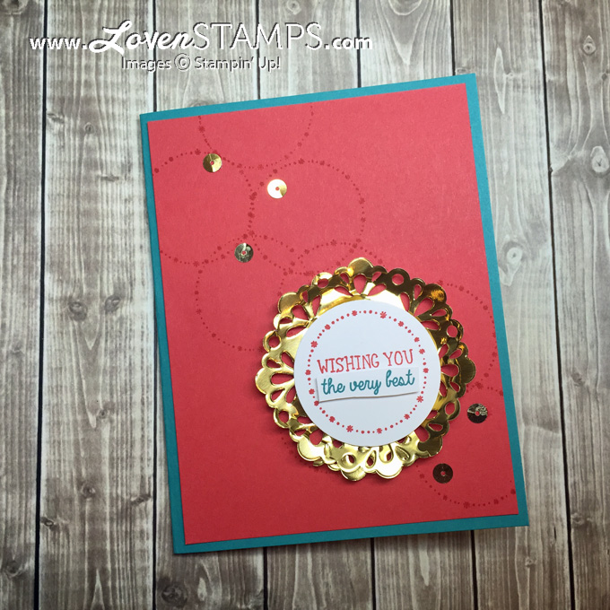 LovenStamps: How To Make Your Own Perfect Size Metallic Foil Doily - All Boxed Up for Stamps in the Mail Club with Meg