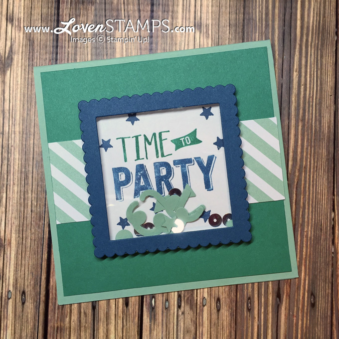 LovenStamps: Shaker Cards Made Simple - learn the trick! Confetti Celebration and the Sprinkles Punch