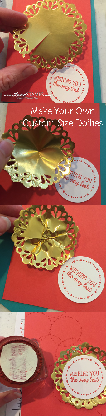 LovenStamps: Video Tutorial on how to make your own custom size metallic foil doilies