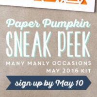 Need Guy Cards?  Last Day to Sign Up for May Paper Pumpkin Kits