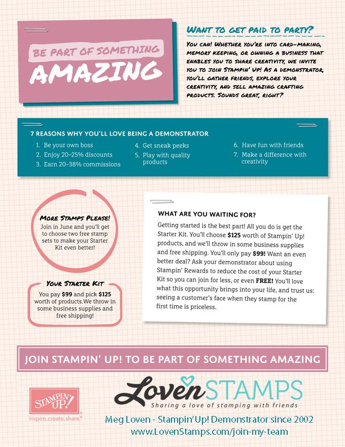 2 FREE Stamp Sets with your Stampin' Up! Starter Kit - in June only! Visit LovenStamps for details