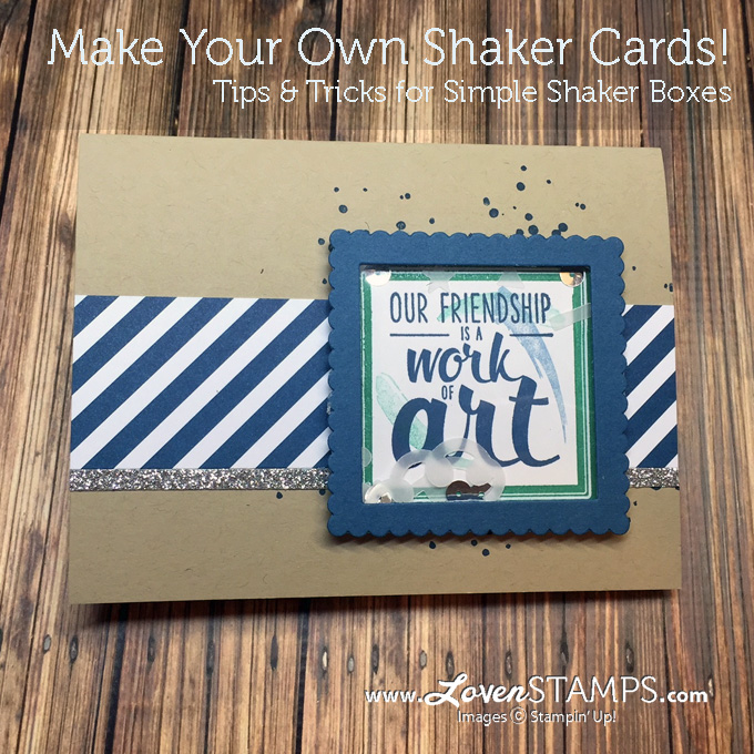 LovenStamps How-To: Make Your Own Shaker Cards - Painter's Palette stamp set from the new Stampin Up catalog
