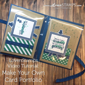 LovenStamps: Make Your Own Card Portfolio - perfect card keeper for gifts, featuring Painter's Palette from Stampin' Up - for Stamps in the Mail Club with Meg