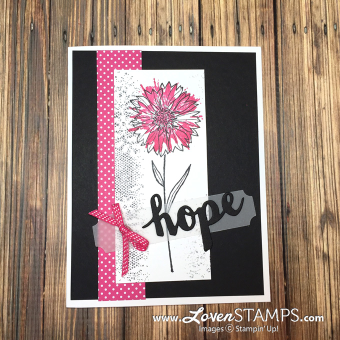 LovenStamps: Timeless Textures plus Pop of Pink Designer Paper for a pretty monochromatic card idea