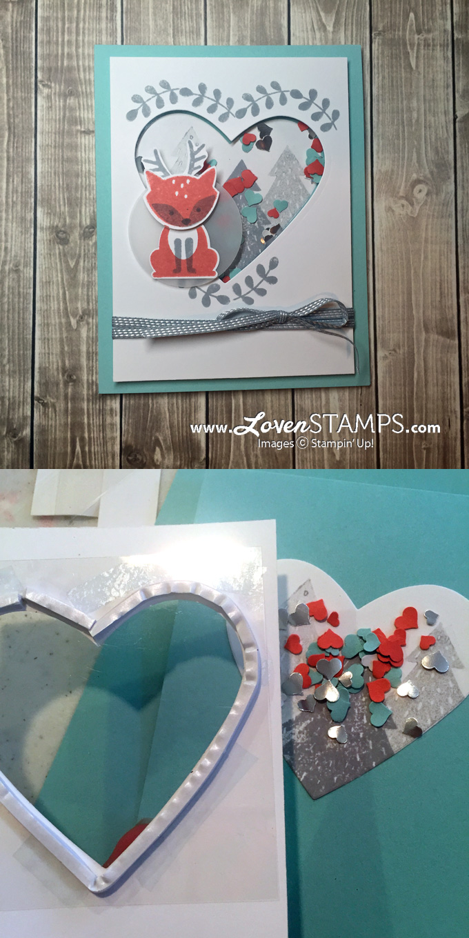 LovenStamps: Foxy Friends and the Fox Builder Punch - make your own shaker cards with the punch art deer, for Stamps in the Mail Club kits in August - available at LovenStamps