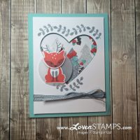 A Dear Little Shaker Card: Foxy Friends Deer Punch Art