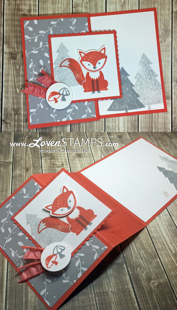 LovenStamps: a Foxy Friends Faux Flip Flop Card Tutorial - for August Stamps in the Mail Club, get your kit at LovenStamps