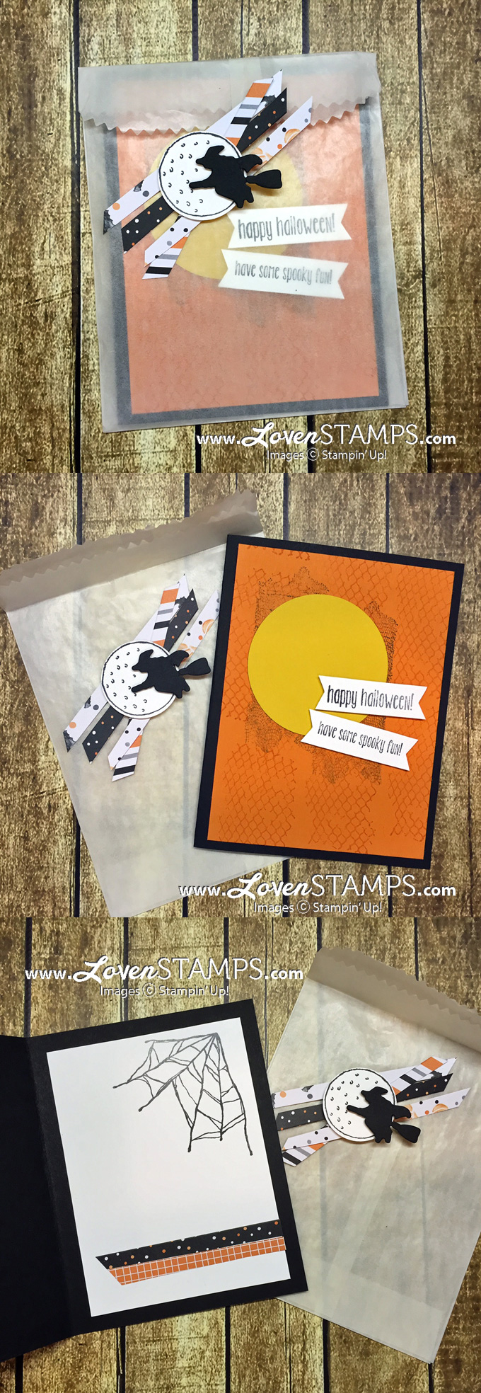 LovenStamps: Glassine Bags make great envelopes! Ghoulish Grunge and the Spooky Fun Bundle (with stamps and Halloween Scenes Edgelits Dies