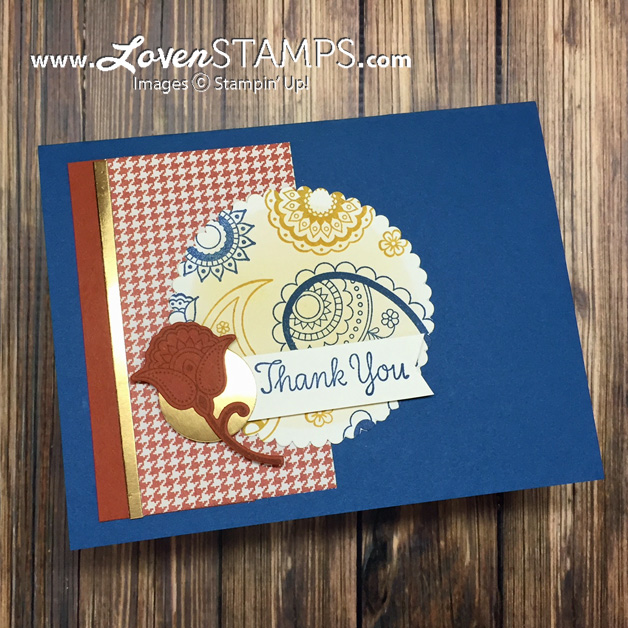 LovenStamps: Spritzed Masking Technique - with the Layering Circles Framelits and the new Paisleys & Posies bundle from the Holiday Catalog