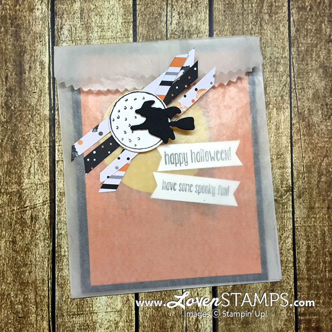 LovenStamps: Ghoulish Grunge and the Spooky Fun Bundle (with stamps and Halloween Scenes Edgelits Dies - try a Glassine Bag Card