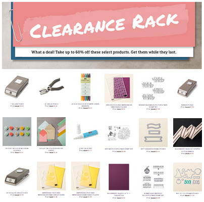 Stampin' Up! Clearance Rack Updated Today - shop at LovenStamps.com