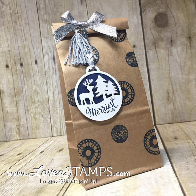 LovenStamps: Make your own Merry Tags treat bags with the Petite Cafe Gift Bags, complete with sequins and mini tassels