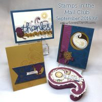 LovenStamps: Projects with Paisleys & Posies for Stamps in the Mail Club with Meg