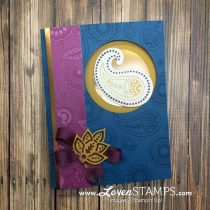 Make Your Own Designer Paper: Paisleys & Posies Window Card