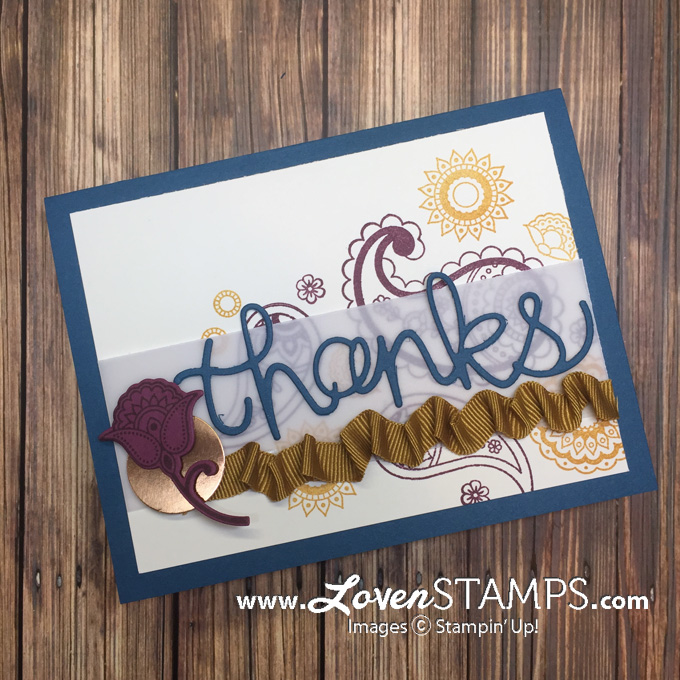 LovenStamps: How to make ribbon ruffles on cards - video tutorial for Stamps in the Mail Club September 2016