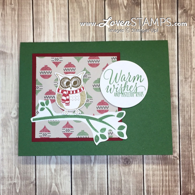 LovenStamps: Cozy Critters hostess stamp set from the Stampin' Up Holiday Catalog - card kit 'to go'