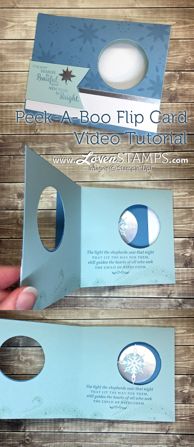 LovenStamps: WOW!  How to make your own Peek-A-Boo Flip Card with Star of Light