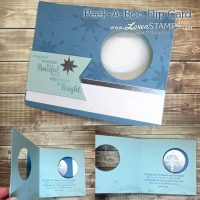 WOW Card: How to Make a Peek-A-Boo Flip Card