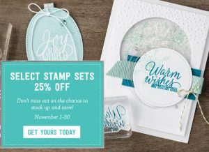 Selected Stampin' Up! stamp sets 25% off in November only