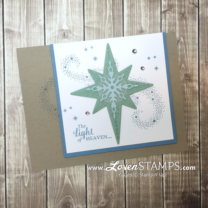 LovenStamps: Star of Light with swirled starlight for November Stamps in the Mail Club with Meg
