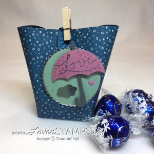 LovenStamps for Stamps in the Mail Club with Meg: Square bottom box bags - simple treat holders for any occasion, featuring the Umbrella Weather dies and Weather Together stamp set.