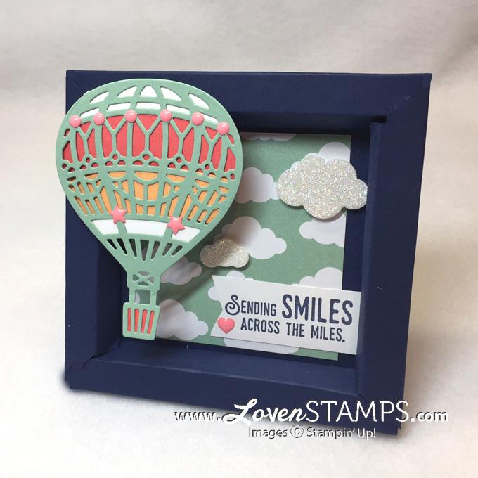 Up Away Hot Air Balloons How To Make A Card Stock Shadowbox