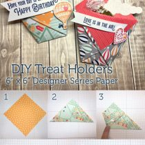 Simple Sweets: Folded Treat Holders with the Carried Away Designer Paper