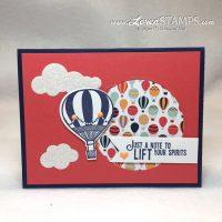 Peek A Boo Card Design: Carried Away with Up & Away