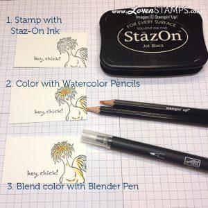 Stampin' Up Blender Pen & Flower Shop Project Part 2
