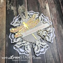 Gorgeous Gift Tags – Lace Doilies and Detailed Dragonflies Die Cuts