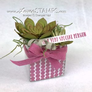 LovenStamps: Video Tutorial on how to make the Succulent Garden Framelits Dies into a beautiful planter gift box - only at LovenStamps