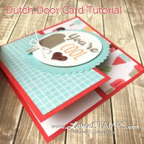 Fun Folds Tutorial: Dutch Door Card with Cool Treats
