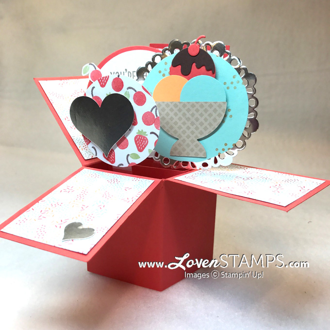 Pop Up Box Card Tutorial Made Simple With Cool Treats Lovenstamps