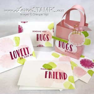 LovenStamps: Create a gift set of Note Cards with a matching basket - featuring the Lovely Inside & Out stamp set from Stampin' Up!, project kit available only at LovenStamps