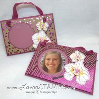 Climbing Orchid Stamp Set: Layered Floral Photo Frame