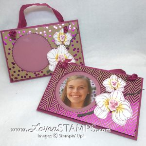 LovenStamps: Orchid Builder Framelits Dies with the Climbing Orchid stamp set - make your own Foil Frenzy Photo Frame