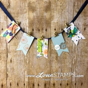 LovenStamps: Naturally Eclectic Summer Banner with Eclectic Layers Die Cuts and Oh So Eclectic accents - by LovenStamps for Stamps in the Mail Club with Meg