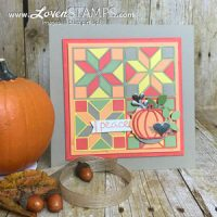 Quilted Christmas sampler frame by LovenStamps for Stamps in the Mail Club