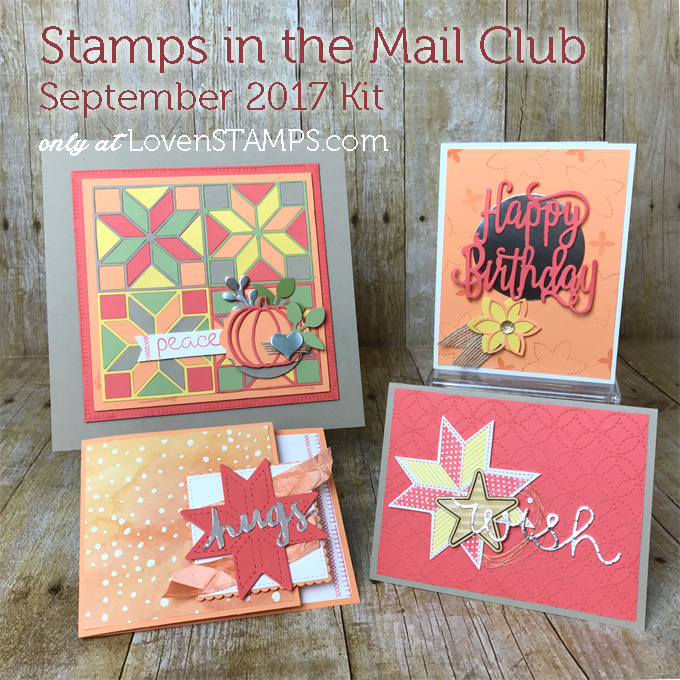 New Stampin Up Holiday Catalog projects with Quilted Christmas for Stamps in the Mail Club