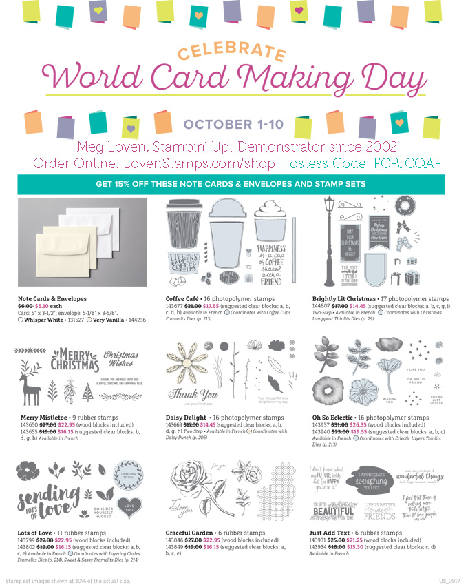 World Card Making Day - Stampin' Up! specials available through LovenStamps