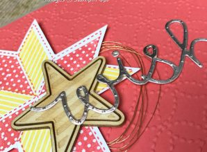 """LovenStamps: Christmas Quilt with """"wish"""" from Cupcake Cutout Thinlits Dies, create cards not just for Christmas"""